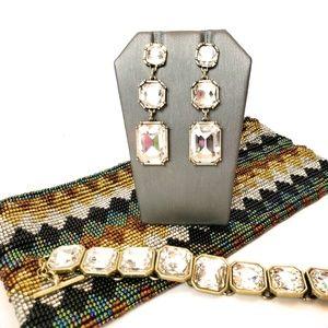 Chloe & Isabel bracelet & earring set, EUC